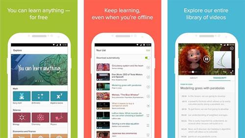 تطبيق Khan Academy أكبر منصة محاضرات علمية مفيدة
