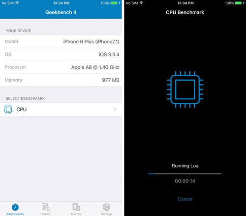 تطبيق Geekbench 4 لاختبار أداء هاتفك