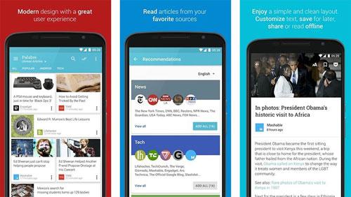 تطبيق Palabre Feedly RSS Reader News لمتابعة أخبار المواقع