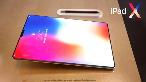 تصميم تخيلي - صور مستقبلية للأيباد X بتصميم الأيفون X