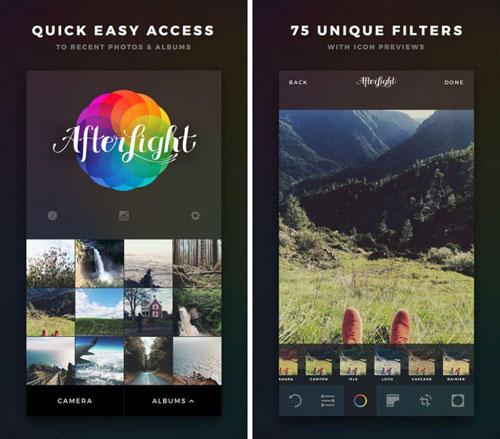 تطبيق Afterlight مع الكثير من المزايا لتحرير الصور