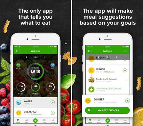 تطبيق Mealviser لمراقبة ما تأكله