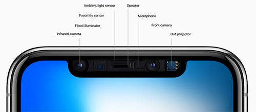 كاميرا TrueDepth الأمامية في iPhone X