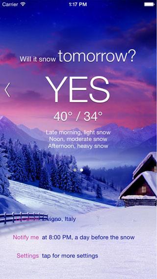 تطبيق Will it Snow? [Pro] لمعرفة هل ستمطر غدا ؟