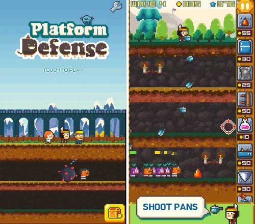 لعبة Platform Defense البكسلية المميزة