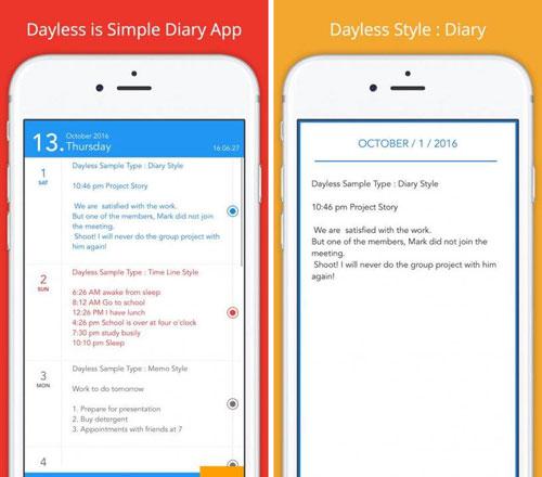 تطبيق Dayless لتسجيل وحفظ مذكراتك اليومية