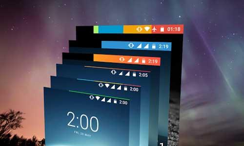 تطبيق Energy Bar لإضافة مؤثرات حول نسبة البطارية