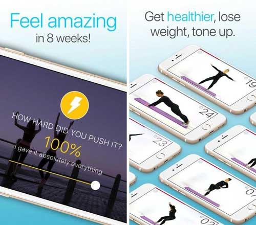 تطبيق Wonder 7 Minute دليل حركات رياضية