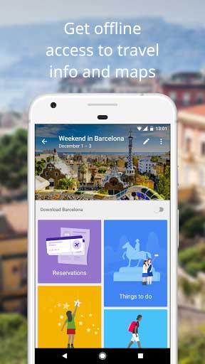 تطبيق Google Trips للتخطيط للسفر من طرف جوجل