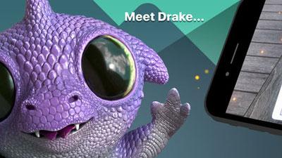 تطبيق Follow Me Dragon دينصور لطيف في العالم المعزز