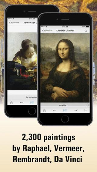 تطبيق Louvre HD لمشاهدة أفضل اللوحات العالمية