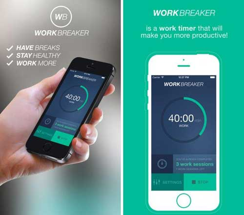تطبيق WorkBreaker لتنظيم وقت العمل والراحة