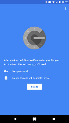 تطبيق Google Authenticator للحصول على أكواد التحقق بخطوتين