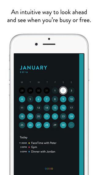 تطبيق Timepage تقويم بتصميم عصري