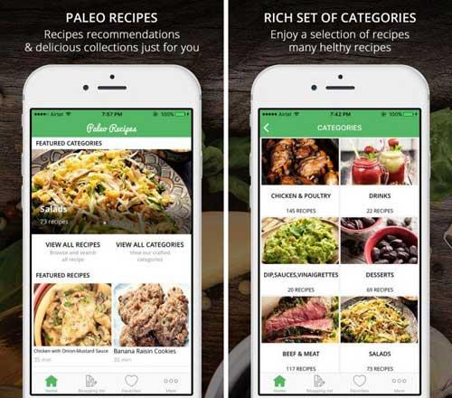 تطبيق Paleo Diet Recipes دليل طبخ لأكل صحي