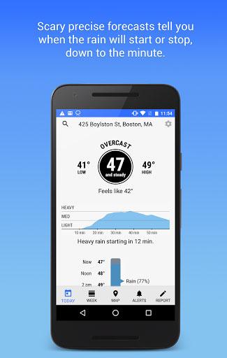 تطبيق Dark Sky لمتابعة حالة الطقس بدقة وبكامل التفاصيل