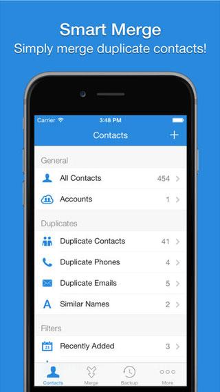 تطبيق Smart Merge Pro لإدارة جهات الاتصال