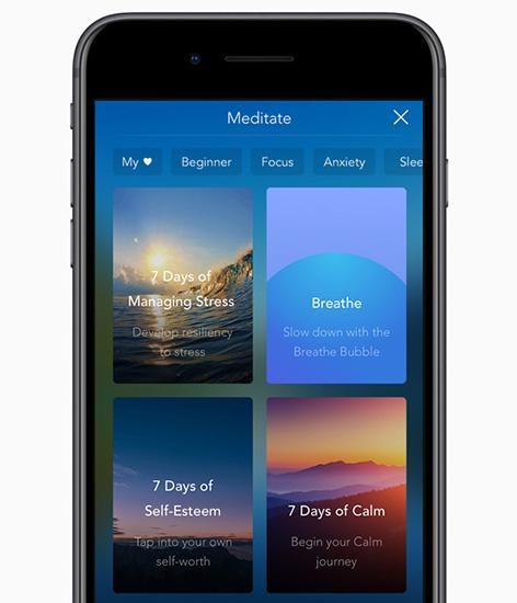 تطبيق Calm أفضل تطبيق للآيفون في 2017