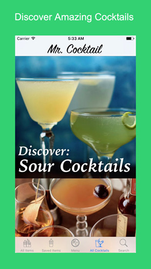 تطبيق Mr. Cocktail دليلك لتحضير العصائر - مجانا لوقت محدود