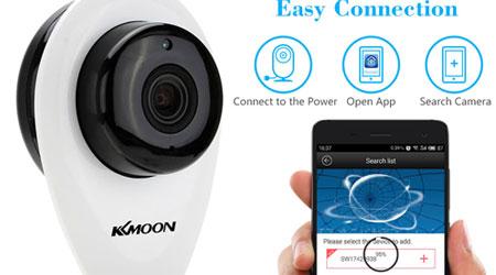 صورة عرض رائع على كاميرا المراقبة KKmoon HD – مراقبة عن بعد