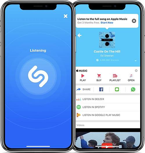تطبيق Shazam على الآيفون