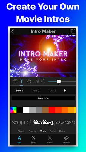 تطبيق Intro Movie Vlog لتصميم مقدمة الإفلام الاحترافية الخاصة بك