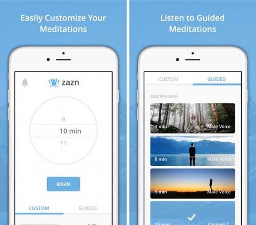تطبيق Zazn Meditation للحصول على الاسترخاء