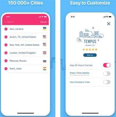 تطبيق GlobeTempus لعرض التوقيت العالمي بمزايا احترافية !