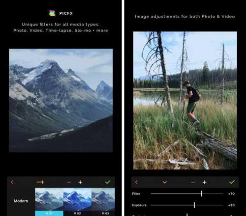 تطبيق Picfx لتحرير الصور باحترافية