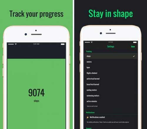 تطبيق Today's Stash بسيط لحساب خطواتك