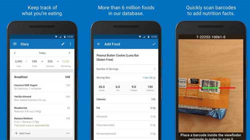 تطبيق MyFitnessPal لمتابعة إحصائياتك الصحية لطعامك