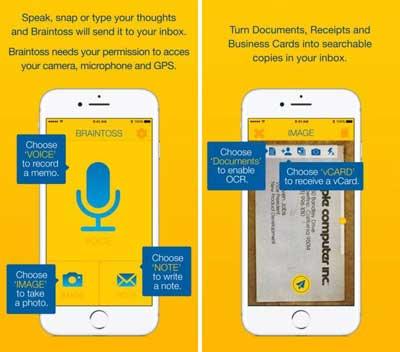 تطبيق Braintoss لتحويل الصوت والصور إلى كتابة