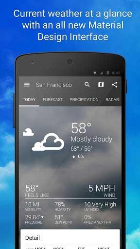 تطبيق 1Weather لمعرفة حالة الطقس بمزايا كثيرة