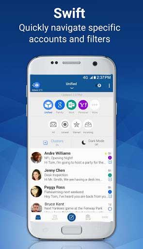 تطبيق Blue Mail لإدارة البريد الالكتروني بمزايا كثيرة