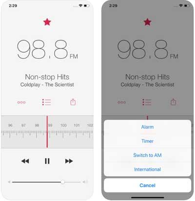 تطبيق RadioApp للاستماع للراديو على الأيفون