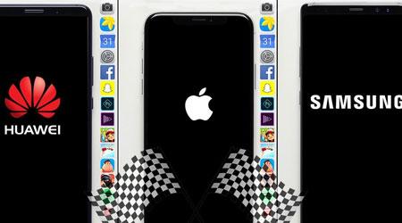 فيديو - اختبار السرعة بين الأيفون X وجالاكسي نوت 8 و هواوي Mate 10 Pro !