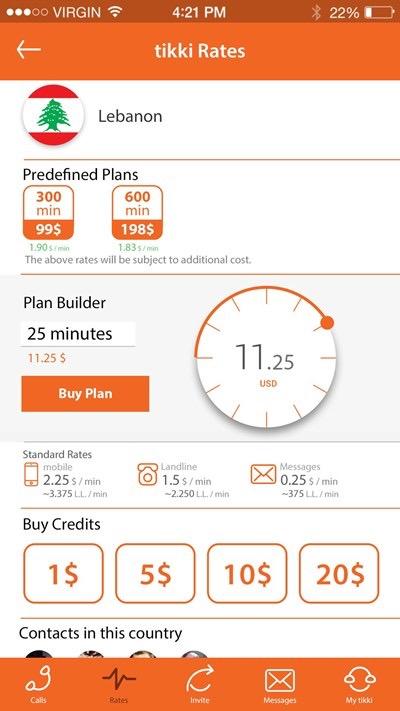 تطبيق Tikki للاتصال الدولي بأفضل المزايا - للأيفون والأندرويد