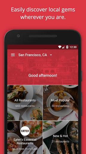 تطبيق OpenTable للوصول إلى أقرب مطعم إليك