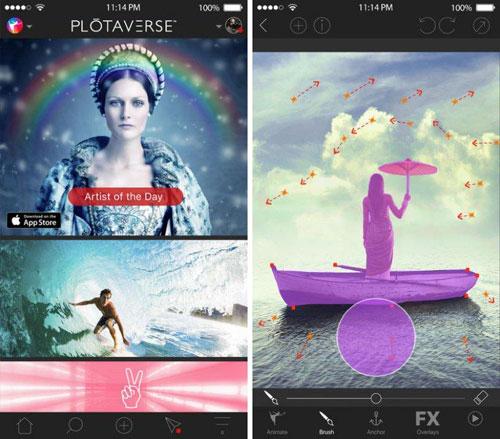 تطبيق Plotaverse لتحرير الصور باحترافية