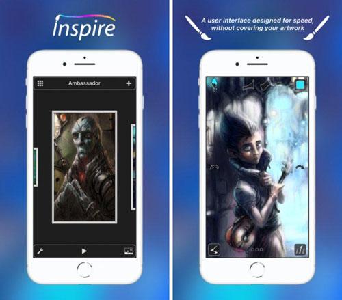 تطبيق Inspire للمصممين المحترفين والرسامين