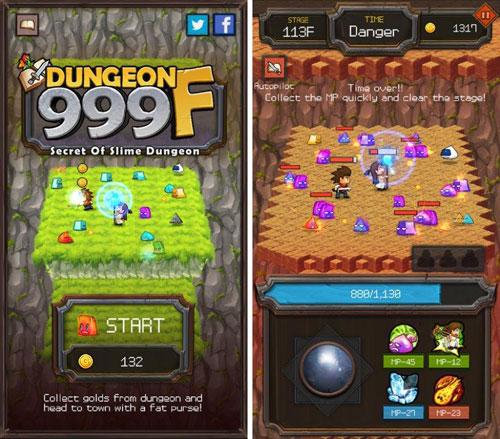 لعبة Dungeon999F لمحبي الألعاب الكلاسيكية