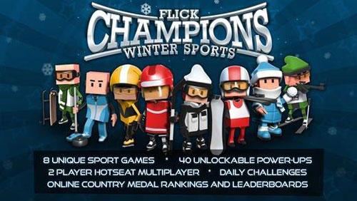 لعبة Flick Champions Winter Sports لمحبي الألعاب الشتوية