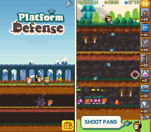 لعبة Platform Defense الكلاسيكية بين يديك