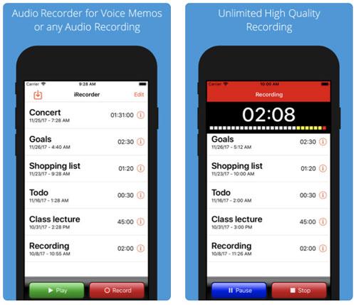 تطبيق iRecorder Pro لتسجيل احترافي للأصوات