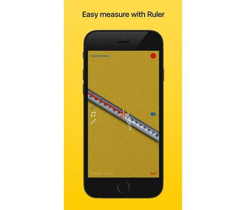 تطبيق Ruler لقياس الأطوال بالواقع المعزز