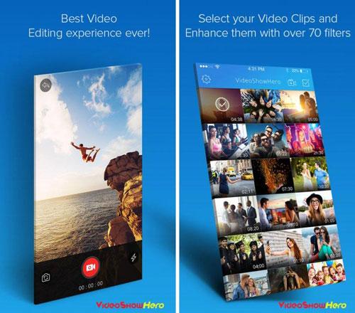 تطبيق VideoShowHero لتحرير مقاطع الفيديو