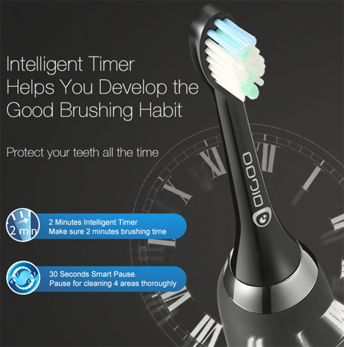 فرشاة الأسنان الذكية Digoo DG-YS11 - عرض تخفيضي كبير