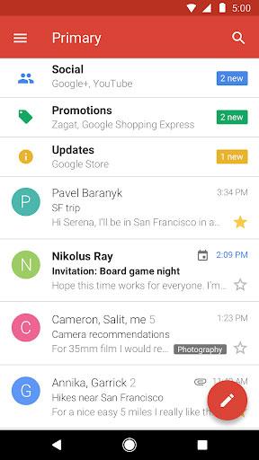 تطبيق Gmail Go النسخة المخففة من تطبيق جيميل