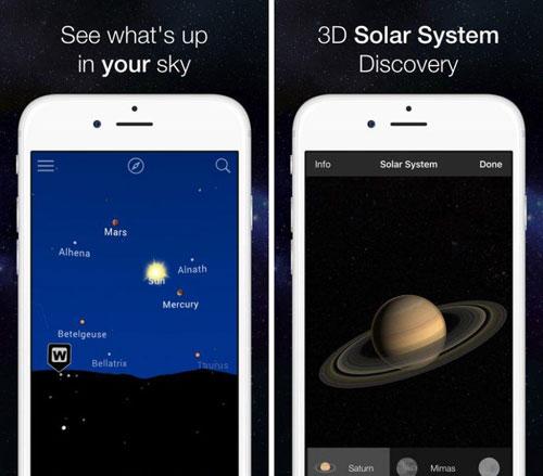 تطبيق Night Sky Map لاستشكاف الفضاء