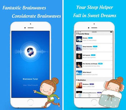 تطبيق BrainWave Tuner للاسترخاء والنوم الهادئ